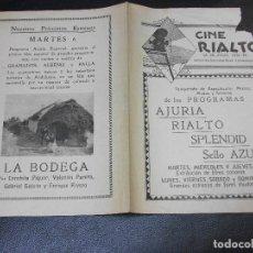 Cine: 1931 LA BODEGA PROGRAMA DE CINE CONCHITA PIQUER MUSICA GRANADOS ALBENIZ FALLA URUGUAY MONTEVIDEO. Lote 205265950