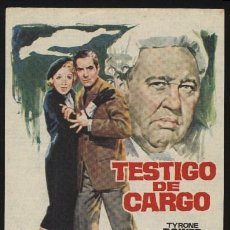 Cine: P-0457- TESTIGO DE CARGO (WITNESS FOR THE PROSECUTION) TYRONE POWER - MARLENE DIETRICH. Lote 205286420
