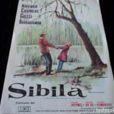 Cine: SIBILA - HARDY KRUGER, NICOLE COURCEL TEATRO DE GALDAR. Lote 205354700
