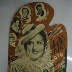 Cine: MARIQUILLA TERREMOTO 1938 CON PUBLICIDAD DEL GRAN TEATRO ESTRELLITA CASTRO, ANTONIO VICO, RICARDO ME. Lote 205372117