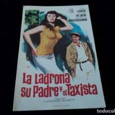 Cine: LA LADRONA SU PADRE Y EL TAXISTA,SOFIA LOREN VITTORIO DE SICA CINE HESPERIDES. Lote 205382236