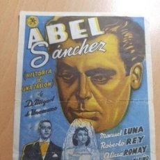 Cine: ANTIGUO PROGRAMA DE CINE ABEL SANCHEZ ALGUAZAS MURCIA 1947. Lote 205384235