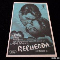 Cine: RECUERDA (INGRID BERGMAN - GREGORY PECK - MICHAEL CHEKHOV) CINE HESPERIDES. Lote 205385490