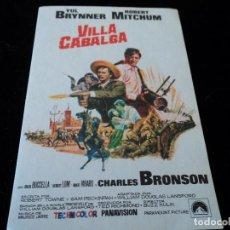 Cine: VILLA CABALGA (YUL BRYNNER - ROBERT MITCHUM - MARIA GRAZIA BUCCELLA - CHARLES BRONSO CINE HESPERIDES. Lote 205385685