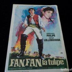Cine: FANFAN LA TULIPE (GÉRARD PHILIPE - GINA LOLLOBRIGIDA) CINE HESPERIDES. Lote 205385975