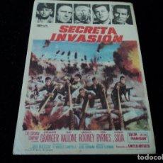 Cine: SECRETA INVASIÓN STEWART GRANGER - RAF VALLONE - MICKEY ROONEY CINE HESPERIDES. Lote 205386410