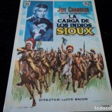 Cine: LA CARGA DE LOS INDIOS SIOUX, CON JEFF CHANDLER. CINE HESPERIDES. Lote 205386990