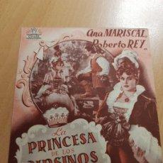 Cine: ANTIGUO PROGRAMA DE CINE LA PRONCESA DE LOS URSINOS CIFESAREX MURCIA 1947. Lote 205388156