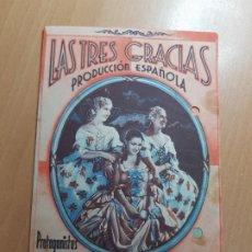 Cine: ANTIGUO PROGRAMA DE CINE LAS TRES GRACIAS MURCIA PARQUE 1940. Lote 205388507