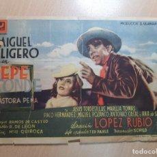 Cine: ANTIGUO PROGRAMA DE CINE MIGUEL LIGERO PEPE CONDE UFISA FILMS MURCIA 1943. Lote 205398691