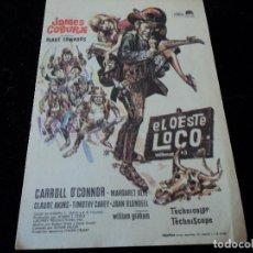 Cine: EL OESTE LOCO, SENCILLO 1970, JAMES COBURN CARROLL O'CONOR CINE HESPERIDES. Lote 205444876