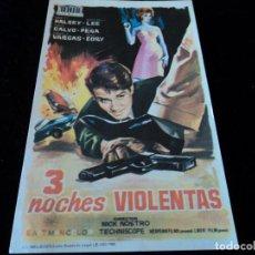 Cine: 3 NOCHES VIOLENTAS. BRETT HALSEY - CINE HESPERIDES. Lote 205446058