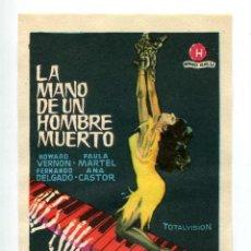 Cine: LA MANO DE UN HOMBRE MUERTO, CON FERNANDO DELGADO.. Lote 205447421