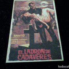 Cine: SANTO EL ENMASCARADO DE PLATA, EL LADRON DE CADAVERES CINE HESPERIDES. Lote 205467891