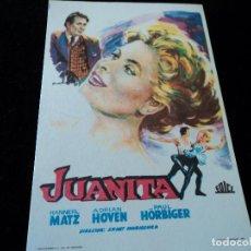 Cine: JUANITA- ERNST MARISCHKA-HANNERL MATZ-ADRIAN HOVEN-PAUL HORBIGER CINE HESPERIDES. Lote 205468628