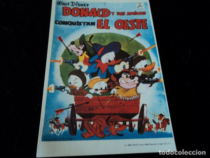 DONALD Y SUS AMIGOS CONQUISTAN EL OESTE CINE HESPERIDES (Cine - Folletos de Mano - Infantil)