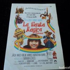 Cine: LA FLAUTA MAGICA JACK WILD - BILLIE HAYES - MARTHA RAYE - BILLY BARTY, CINE HESPERIDES. Lote 205470068