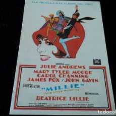 Cine: MILLIE-UNA CHICA MODERNA-GEORGE ROY HILL-JULIE ANDREWS-MARY TYLER MOORE CINE CUYAS. Lote 205470793