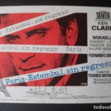Folhetos de mão de filmes antigos de cinema: PARIS ESTAMBUL, SIN REGRESO, KEN CLARK. Lote 205488410