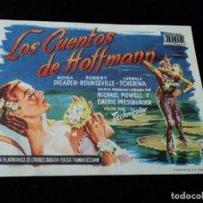 Cine: LOS CUENTOS DE HOFFMAN, MOIRA SHEARER, ROBERT ROUNSEVILLE, TEATRO DE GALDAR. Lote 205501625