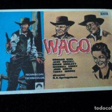 Cine: WACO--HOWARD NEEL-JANE RUSSELL-BRIAN DONLEVY, TEATRO DE GALDAR. Lote 205511606