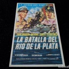 Cine: LA BATALLA DEL RÍO DE LA PLATA. CINE GOYA ZARAGOZA. Lote 205517045