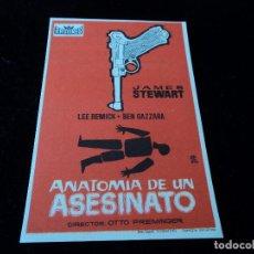 Cine: ANATOMIA DE UN ASESINATO JAMES STEWART LEE REMICK COLISEO EQUITATIVA. Lote 205517367