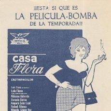 Cine: PN - PROGRAMA DE CINE CARTÓN - CASA FLORA - LOLA FLORES - ROYAL, ZAYLA Y PARIS (MÁLAGA) - 1973.. Lote 205522288