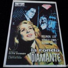Cine: LA RONDA DEL DIAMANTE . BELINDA LEE RONALD LEWIS MICHAEL BROOKE CINE DORADO ZARAGOZA. Lote 205526562