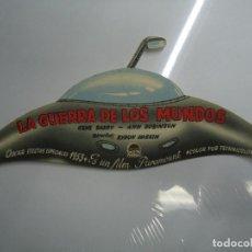 Cine: LA GUERRA DE LOS MUNDOS 1953 TROQUELADO CON PUBLICIDAD CINEMA GOYA GENE BARRY, ANN ROBINSON. Lote 205527545
