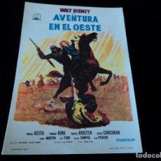 Cine: AVENTURA EN EL OESTE - WALT DISNEY IDEAL CINEMA DE VITORIA. Lote 205527653