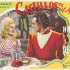 Cine: PN - PROGRAMA DE CINE - CASTILLOS EN EL AIRE - LILIAN HARVEY - CINE MARIA CRISTINA (GIJÓN) - 1939.. Lote 205528745