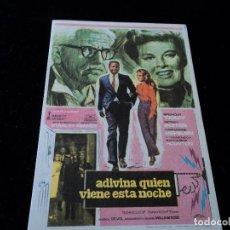 Cine: ADIVINA QUIEN VIENE ESTA NOCHE -CATHARINE HEPBURN GRAN CINEMA GASTEIZ. Lote 205529147