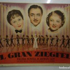 Cine: EL GRAN ZIEGFELD 1936 WILLIAM POWELL, MYRNA LOY, LUISE RAINER, FRANK MORGAN, FANNIE BRICE, VIRGINIA. Lote 205534677