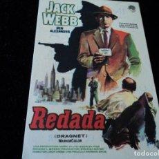 Cine: PROGRAMA REDADA.JACK WEBB CINE IMPERIAL DE VILLENA. Lote 205537322