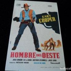 Cine: HOMBRE DEL OESTE (GARY COOPER CINE AVENIDA VILLENA. Lote 205538438