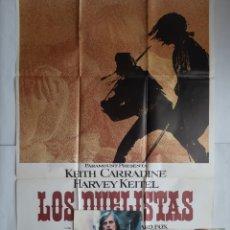 Cine: ANTIGUO CARTEL CINE LOS DUELISTAS + 8 FOTOCROMOS CC244. Lote 205554753