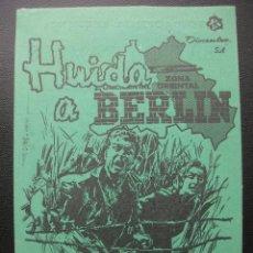 Cine: HUIDA A BERLIN, TEATRO CAMPOS DE BILBAO. Lote 205558872