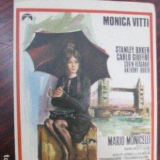 Cine: LA RAGAZZA CON PISTOLA - FOLLETO MANO ORIGINAL - MONICA VITTI STANLEY BAKER MARIO MONICELLI. Lote 205569801