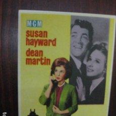 Cine: EL TERCER HOMBRE ERA MUJER - FOLLETO MANO ORIGINAL - SUSAN HAYWARD DEAN MARTIN DANIEL MANN MGM. Lote 205573262
