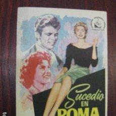 Cine: SUCEDIO EN ROMA - FOLLETO MANO ORIGINAL - SOFIA SOPHIA LOREN RENATO SALVATORI MARIA FIORE. Lote 205575148