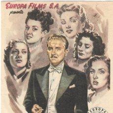 Cine: PN - PROGRAMA DE CINE - CINCO ROSTROS DE MUJER - ARTURO DE CÓRDOBA - MÁLAGA CINEMA (MÁLAGA) - 1947.. Lote 205578342