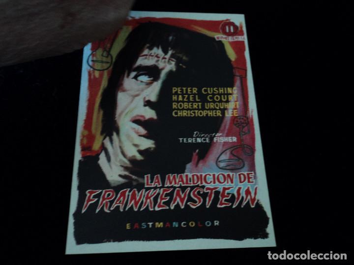 LA MALDICION DE FRANKENSTEIN PETER CUSHING CINE DORADO ZARAGOZA (Cine - Folletos de Mano - Terror)