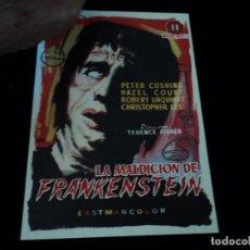 Cine: LA MALDICION DE FRANKENSTEIN PETER CUSHING CINE DORADO ZARAGOZA. Lote 205590366