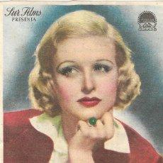 Cine: PN - PROGRAMA DE CINE - COMICOS EN PARIS - JOAN BENNET, JACK BENNY - TEATRO CERVANTES (MÁLAGA)- 1938. Lote 205654840