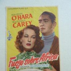 Cine: FUEGO SOBRE ÁFRICA. S/P. Lote 205671931