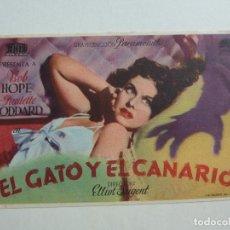 Cine: EL GATO Y EL CANARIO. S/P. Lote 205672386