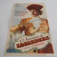 Cine: 5 - FOLLETO DE CINE - CON PUBLICIDAD - CINE TEATRO CINEMA LICEO - EL JURAMENTO DE LAGARDERE. Lote 205692305