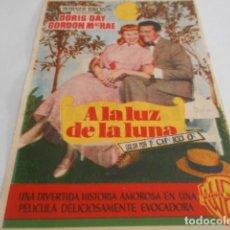 Cine: 5 - FOLLETO DE CINE - CON PUBLICIDAD - CINE IDEAL CINEMA - A LA LUZ DE LA LUNA. Lote 205692835