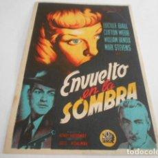 Cine: 5 - FOLLETO DE CINE - CON PUBLICIDAD - CINE COCA - ENVUELTO EN LA SOMBRA. Lote 205693137